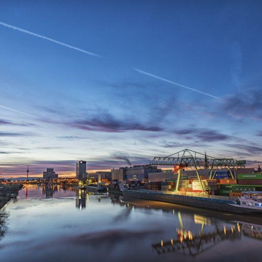 Neckar in Mannheim